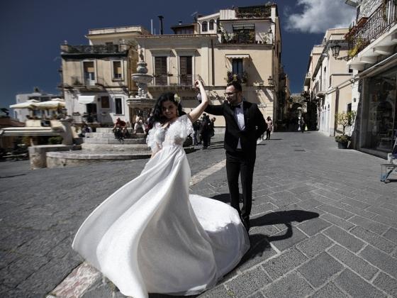 Вика и Паша Таормина Сицилия